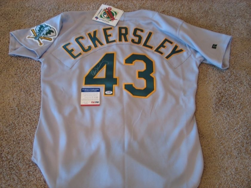 Dennis Eckersley As Signed AUTOGRAPH Jersey PSA DNA
